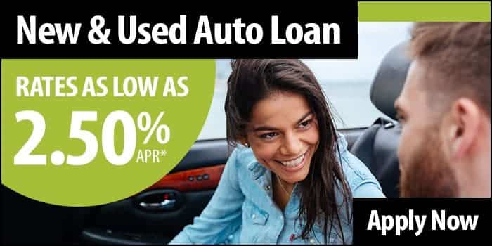 New or used auto loan rates as low as 2.50% APR. Apply Now.