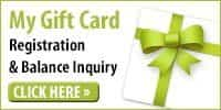 My Gift Card registration and balance