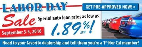 Labor Day Car Sale