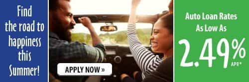 Find the road to happiness ths summer with auto loan rates as low as 2.24% APR. Click to learn more.