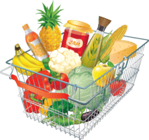 Photo of basket of groceries