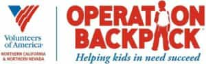 Operation Backpack and Volunteers of America Logo