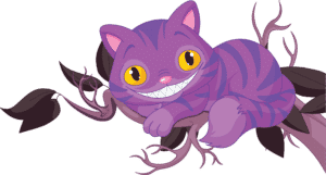 Image of Cheshire Cat in a Tree Smiling
