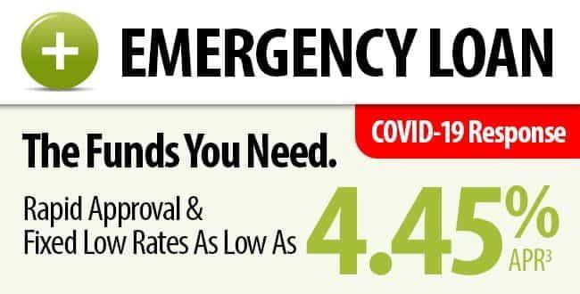 Emergency Loan. Rates as low as 4.45% APR.