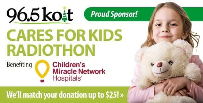 96.5 KOIT Cares for Kids Radiothon. Click for details.