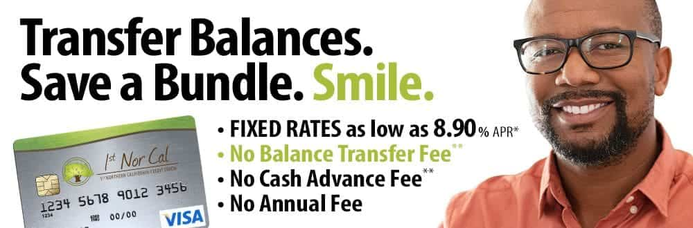 Transfer Balances. Save a Bundle. Smile. Rates as low as 8.90% APR. Click to learn more.