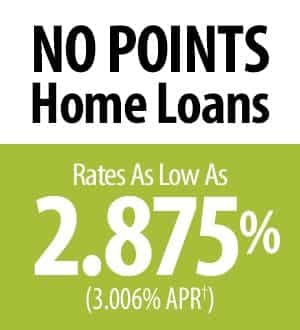 No points home loans. Rates as low as 2.875% (3.006% APR†)