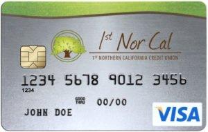 Image of Sample 1st Nor Cal Visa Credit Card